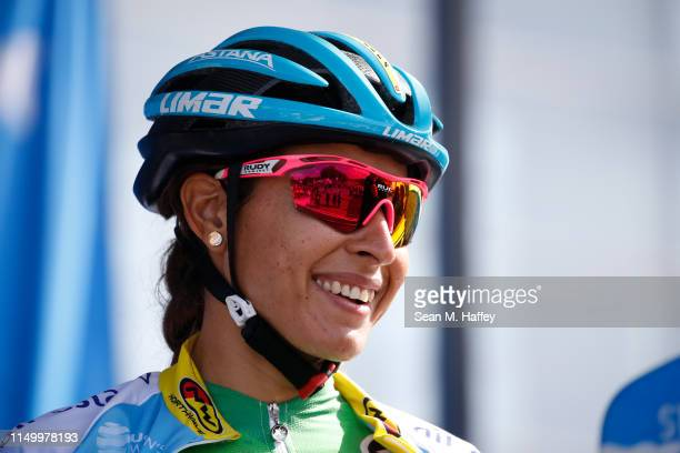 Arlenis Sierra of Cuba and Astana Womens Team / looks on prior to the Amgen Tour Of California Women's Race 2019, Stage 2 a 74km stage from Ontario...