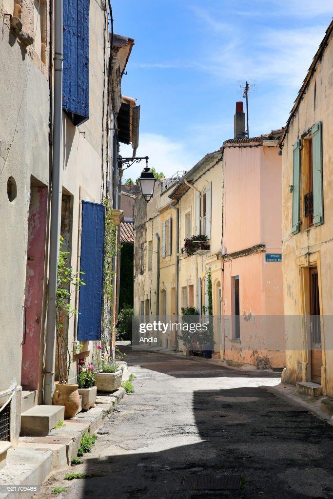 Arles, 'rue Girard le Bleu' street. : News Photo