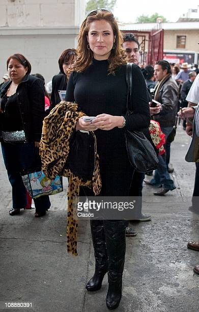 Arleth Teran attends a bull fighting at Plaza de Toros on its 65th birthday on February 6 2011 in Mexico City Mexico