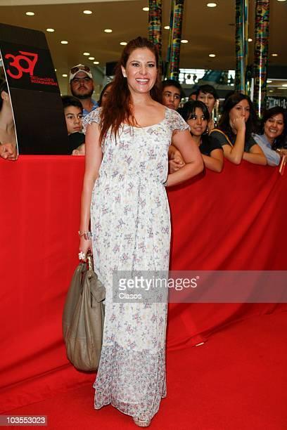 Arleth Teran poses for a photo at the red carpet of the movie No Eres Tu Soy Yo as part of the Festival Internacional de Cine de la Ciudad de...
