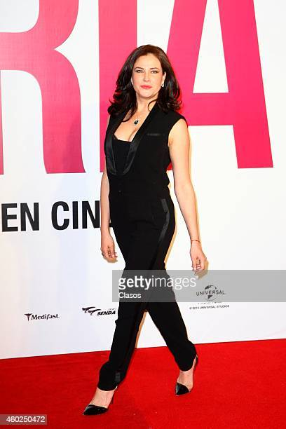 Arleth Teran poses for pictures on the red carpet during the premiere of the movie Gloria at Plaza Universidad on December 09 2014 in Mexico City...