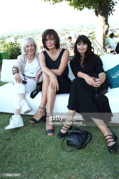 "Arlette Gordon, Marianne Denicourt and Valerie Perrin attend the Photocall of the movie ""La Vertu des Imponderables"" during the 12th Angouleme..."