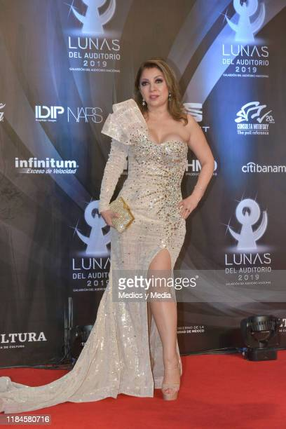 Arlette Pacheco poses for photos during the red carpet of 'Lunas del Auditorio 2019' at Auditorio Nacional on October 30 2019 in Mexico City Mexico