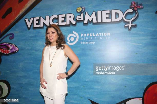 Arlette Pacheco poses for photos during the 'Vencer el Miedo' soap opera presentation at Marquis Reforma Hotel on January 16 2020 in Mexico City...