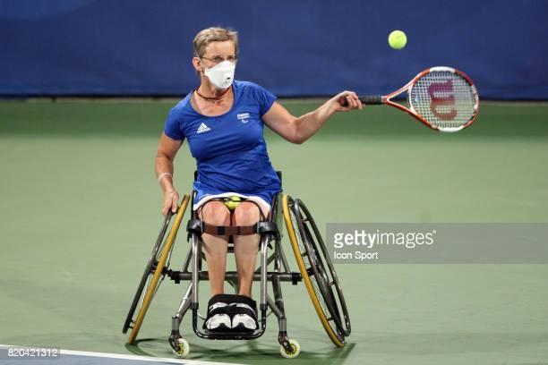 Arlette RACINEUX / Florence GRAVALLIER Tennis finale pour la 3eme place du double femme Jeux Paralympiques de Pekin 2008