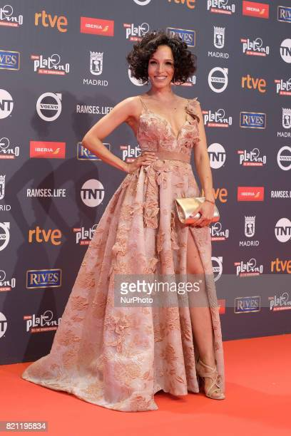 Arlette Torre attends the Platino Awards 2017 photocall at the La Caja Magica on July 22 2017 in Madrid Spain