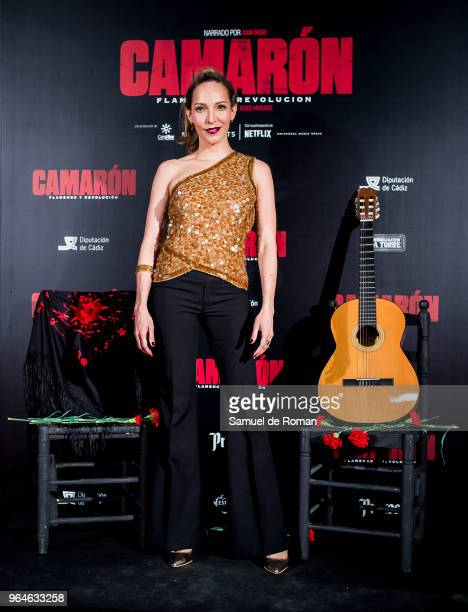 Arlette Torres attends 'Camaron Flamenco Y Revolucion' Madrid Premiere on May 31 2018 in Madrid Spain