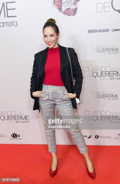 Arlette Torres attends 'Cuando Dejes De Quererme' Madrid Premiere on February 15 2018 in Madrid Spain