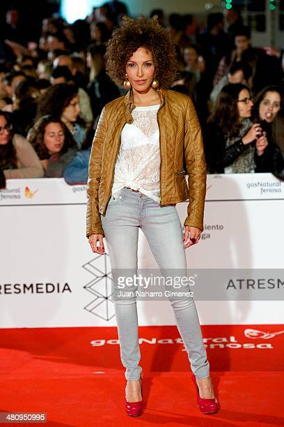 Arlette Torres attends 'Todos Estan Muertos' premiere during the 17th Malaga Film Festival 2014 at Teatro Cervantes on March 27 2014 in Malaga Spain