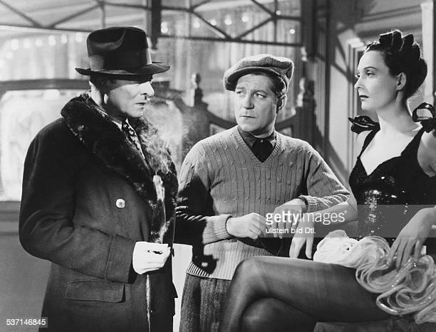 Arletti, eigentlich: Bathiat, Arlett-Leonie, bzw. Garance, Arletty, , Schauspielerin, Frankreich, mit Jean Gabin und Jules Berry, in dem Film 'Der...