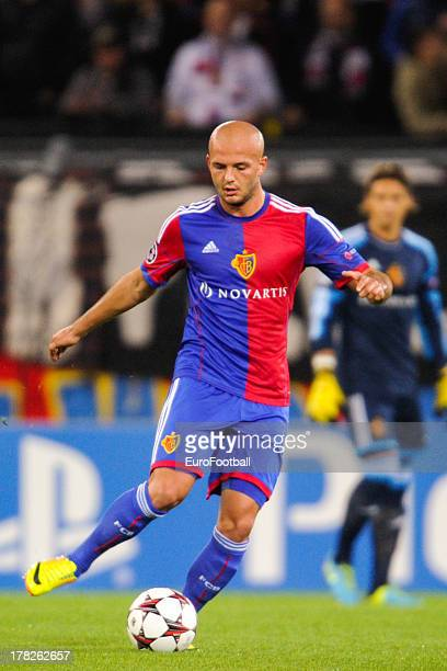 Arlind Ajeti of FC Basel 1893 in action during the UEFA Champions League playoff second leg match between FC Basel 1893 and PFC Ludogorets Razgrad...