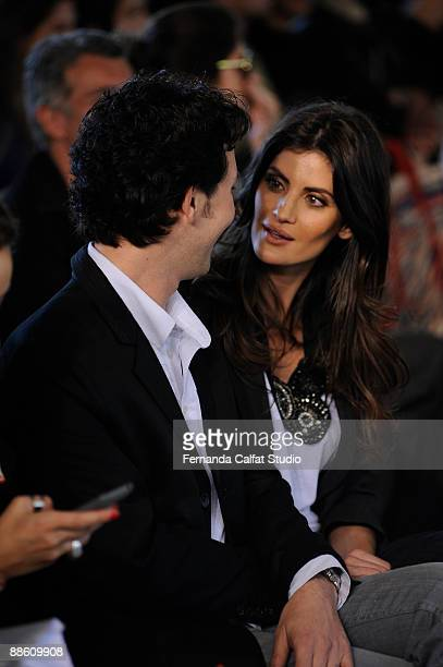 Arlindo and Isabela Fiorentino at Neon during the fifth day of Sao Paulo Fashion Week spring summer 2010 collection at Bienal Pavilion in Ibirapuera...