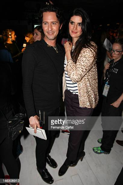 Arlindo Grund and Isabella Fiorentino attends Forum Sao Paulo Fashion Week Spring/Summer 2013 Collections Front Row on June 13 2012 in Sao Paulo...