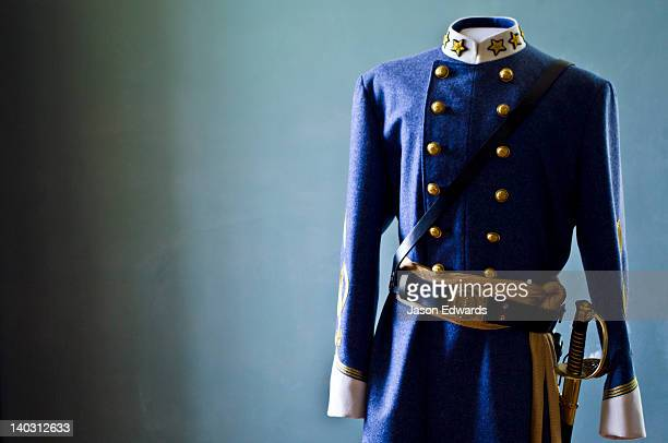 Replica of a Confederate Army uniform worn by a son of Robert E. Lee.