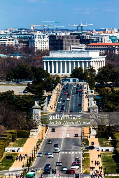 Arlington Memorial Bridge leads to Lincoln Memorial Washington DC
