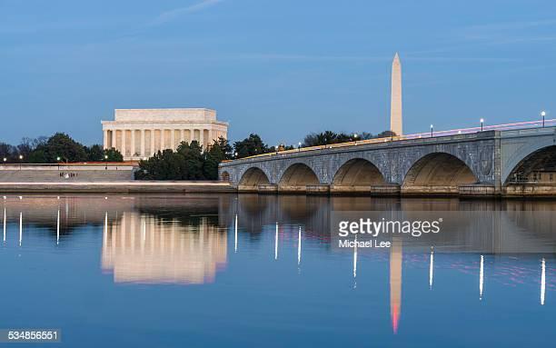 Arlington Memorial Bridge Night View