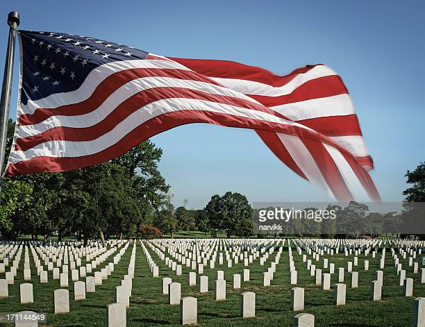 arlington national cemetery and us flag - national landmark stock pictures, royalty-free photos & images