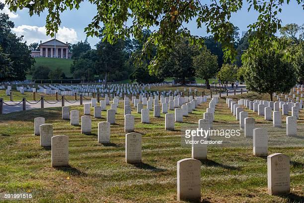 arlington national cemetery - größere sehenswürdigkeit stock-fotos und bilder