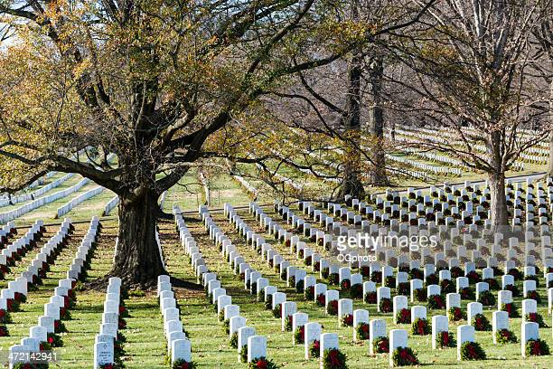 Arlington National Cemetery with Christmas wreaths -XXXL