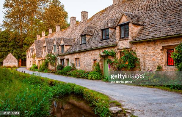 Arlington Row, Bibury, the Cotswolds, Gloucestershire, England