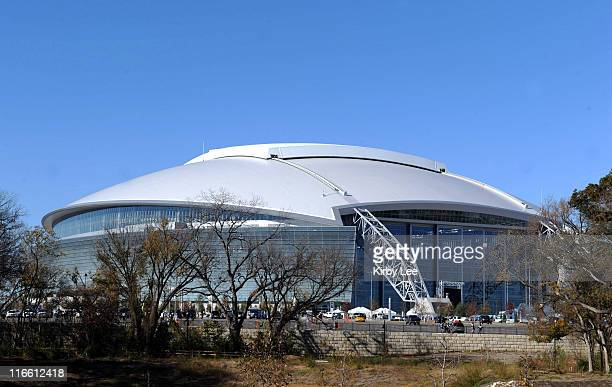 Arlington TX USA General view of the exterior of Cowboys Stadium before the NFL game between the Oakland Raiders and Dallas Cowboys