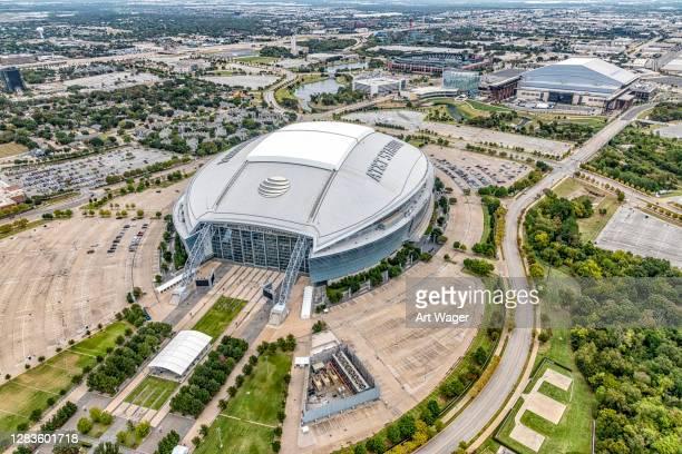 das at&t stadium in arlington - arlington texas stock-fotos und bilder