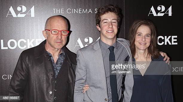 Arliss Howard Gideon Babe Ruth Howard and Debra Winger attend the A24 and The Cinema Society premiere of Locke at The Paley Center for Media on April...