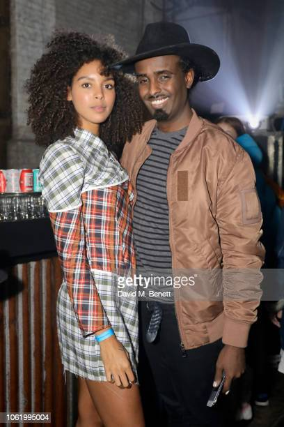 Arlissa and Mason Smillie attend the Marques' Almeida x 7 For All Mankind launch party on November 15 2018 in London England