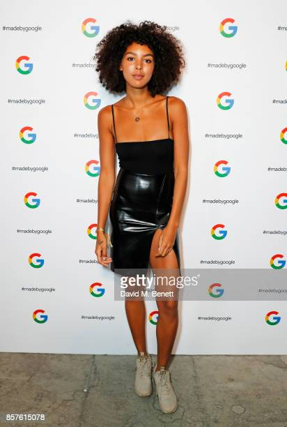 Arlissa attends Google's Pixel 2 phone launch at The Old Selfridges Hotel on October 4 2017 in London England