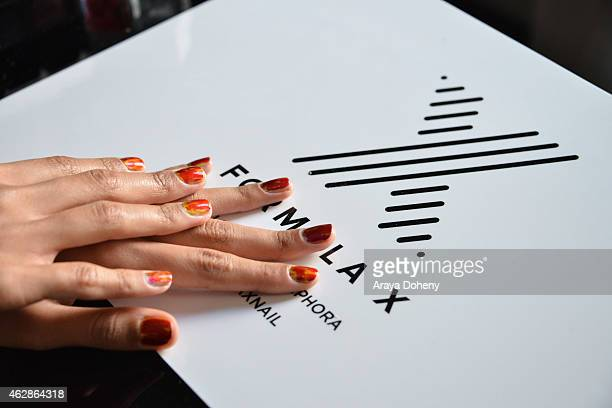 Arlissa attends the Formula X Nail Polish launches partnership with Roc Nation at Palihouse on February 6 2015 in West Hollywood California