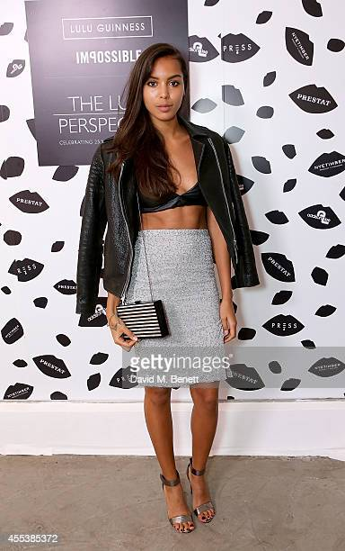 Arlissa attends the launch of The Lulu Perspective To Celebrate 25 Years of Lulu Guinness on September 13 2014 in London United Kingdom