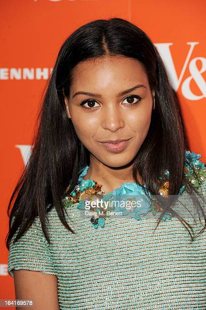 Arlissa attends the private view for the 'David Bowie Is' exhibition in partnership with Gucci and Sennheiser at the Victoria and Albert Museum on...