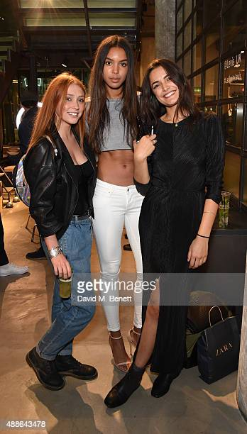 Arlissa Ruppert and Guests attend the Levi's¨ Lot 700 London launch event on September 16 2015 in London England