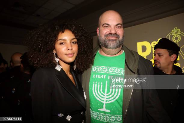 Arlissa Ruppert and Paul Rosenberg attend the 2018 Def Jam Holiday Party at China Chalet on December 13 2018 in New York City