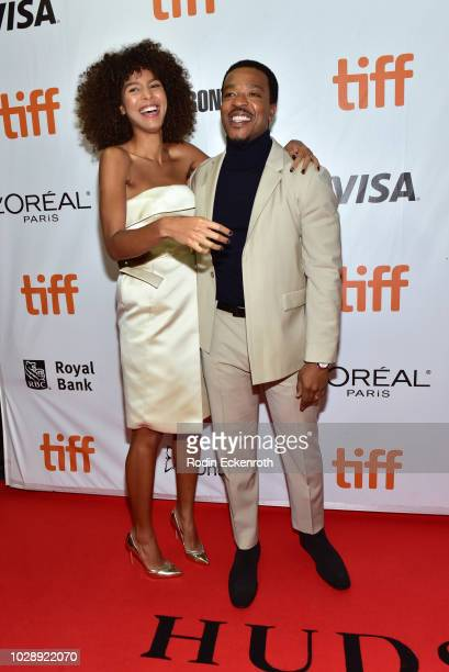 Arlissa Ruppert and Russell Hornsby attends the The Hate U Give premiere during 2018 Toronto International Film Festival at Roy Thomson Hall on...