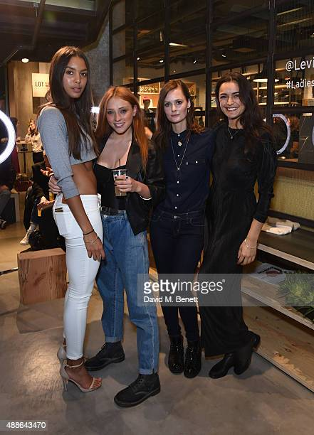 Arlissa Ruppert Guest Charlotte De Carle and Guest attend the Levi's¨ Lot 700 London launch event on September 16 2015 in London England