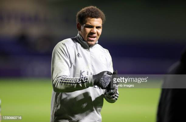 Arlo Doherty of Leicester City ahead of the Premier League 2 match between Leicester City and Manchester United at Leicester City Training Ground, on...