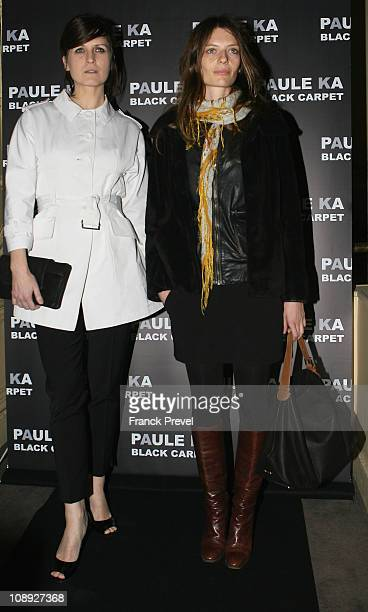 Arly Jover and Amélie Daure attend the Paule Ka presentationat Le Carmen on February 8 2011 in Paris France