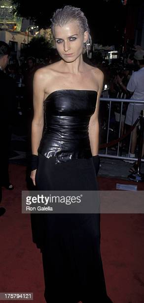 Arly Jover attends the premiere of 'Blade' on August 20 1998 at Mann Chinese Theater in Hollywood California