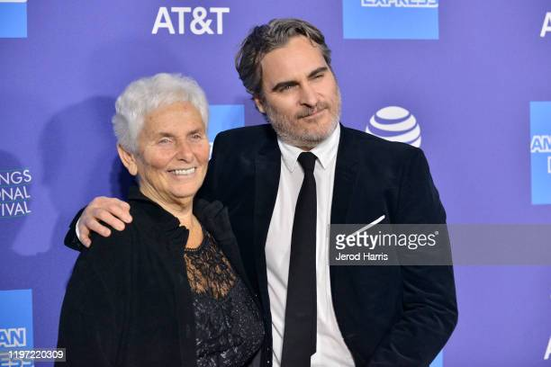 Arlyn Phoenix and Joaquin Phoenix arrive at the 2020 Annual Palm Springs International Film Festival Film Awards Gala on January 02 2020 in Palm...