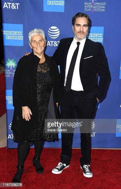 Arlyn Phoenix and Joaquin Phoenix attend the 31st Annual Palm Springs International Film Festival Film Awards Gala at Palm Springs Convention Center...