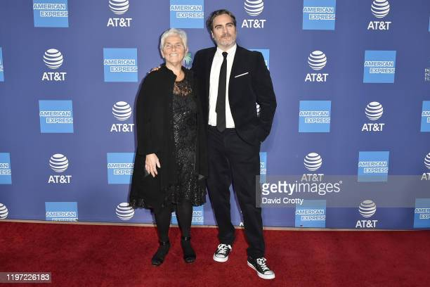 Arlyn Phoenix and Joaquin Phoenix attend the 31st Annual Palm Springs International Film Festival Gala at Palm Springs Convention Center on January...