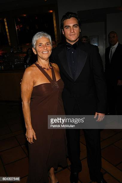 Arlyn Phoenix and Joaquin Phoenix attend Vanity Fair Oscar Party at Morton's Restaurant on March 5 2006