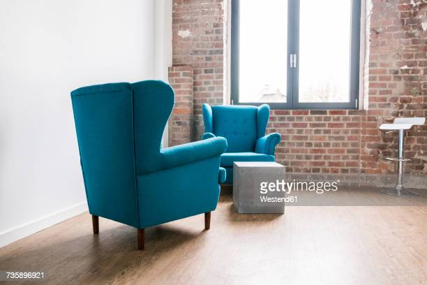 Arm chairs in launge of an office