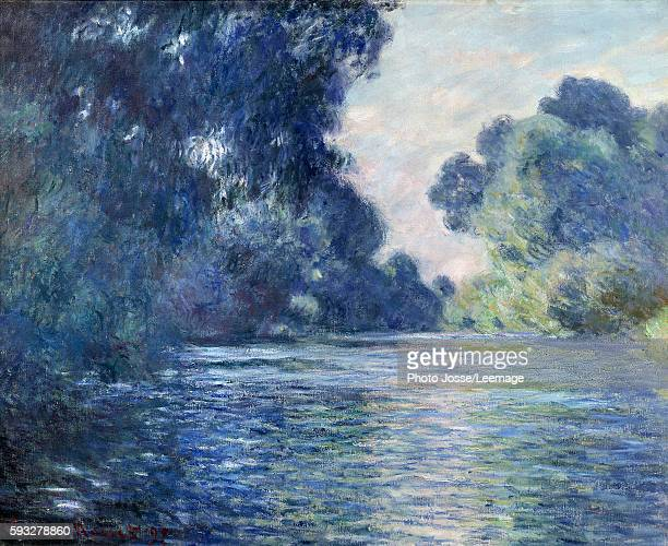 Arm of the Seine near Giverny. Painting by Claude Monet , 1897. Oil on canvas. 0,75 x 0,92 m. Orsay Museum, Paris