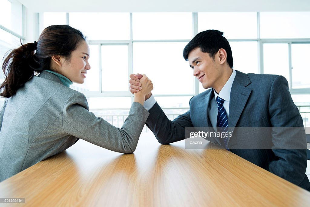 Arm wrestling : Stock Photo
