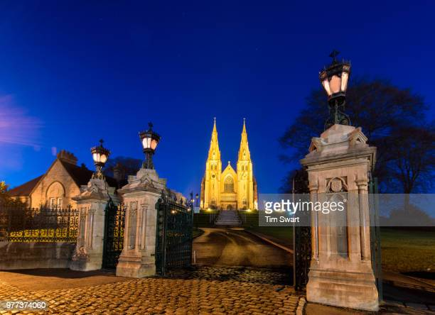 Armagh Cathedral at night, Armagh, Northern Ireland