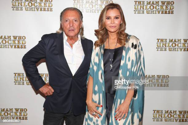 Armand Assante and executive producer Lola Tillyaeva at the premiere of THE MAN WHO UNLOCKED THE UNIVERSE on June 21 2018 in West Hollywood California