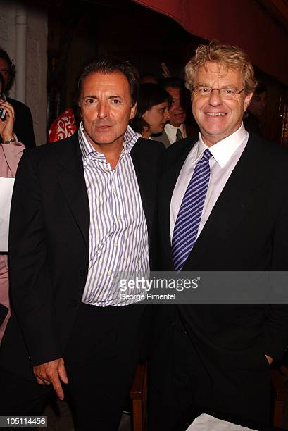 Armand Assante and Jerry Springer during Citizen Verdict Party at La Chunga in Cannes France