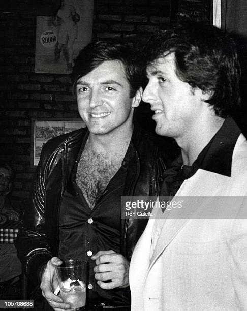 Armand Assante and Sylvester Stallone during 'Paradise Alley' Wrapup Party at Unversal Studio 12 in Los Angeles California United States